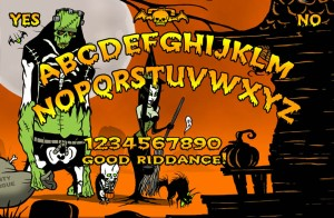 OUIJA BOARD FOR halloween 2013 WITCH yellow