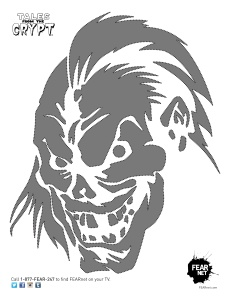 Trick or Treat Pumpkin Stencil