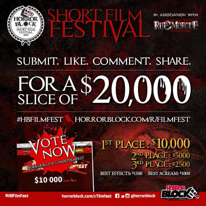 Want to win $10,000? Submit your short film to The Horror Block Film Festival