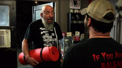 Sid Haig joining the sleepover fun. Picture from Ariescope.com